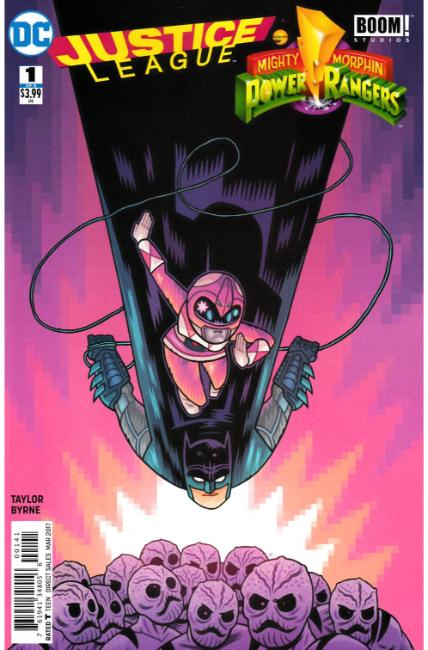 Justice League Power Rangers #1 Batman Pink Ranger Variant Cover [DC Comic] THUMBNAIL