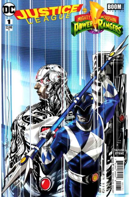 Justice League Power Rangers #1 Cyborg Blue Ranger Variant Cover [DC Comic] THUMBNAIL