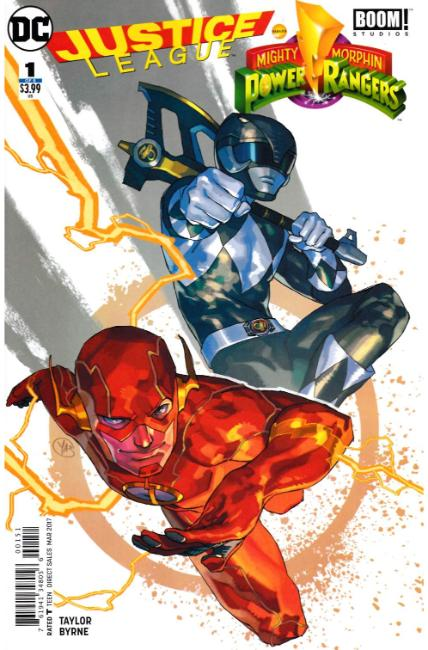 Justice League Power Rangers #1 Flash Black Ranger Variant Cover [DC Comic] THUMBNAIL
