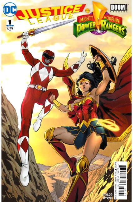 Justice League Power Rangers #1 Wonder Woman Red Ranger Variant Cover [DC Comic] THUMBNAIL