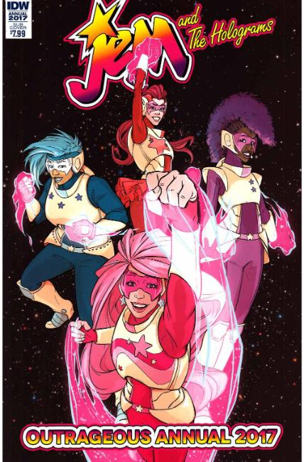 Jem & the Holograms Annual 2017 (One Shot) Subscription Cover [IDW Comic] THUMBNAIL