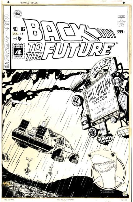 Back to the Future #16 Artist Edition Cover [IDW Comic] THUMBNAIL