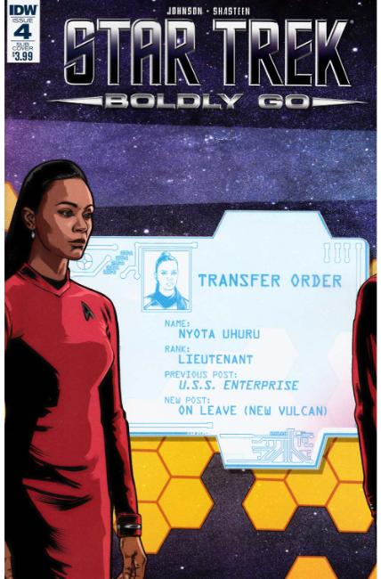 Star Trek Boldly Go #4 Subscription Cover [IDW Comic] THUMBNAIL