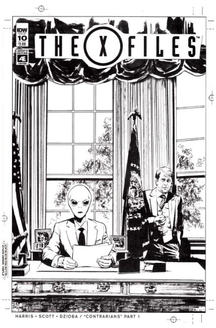 X-Files (2016) #10 Artist Edition Cover [IDW Comic] THUMBNAIL