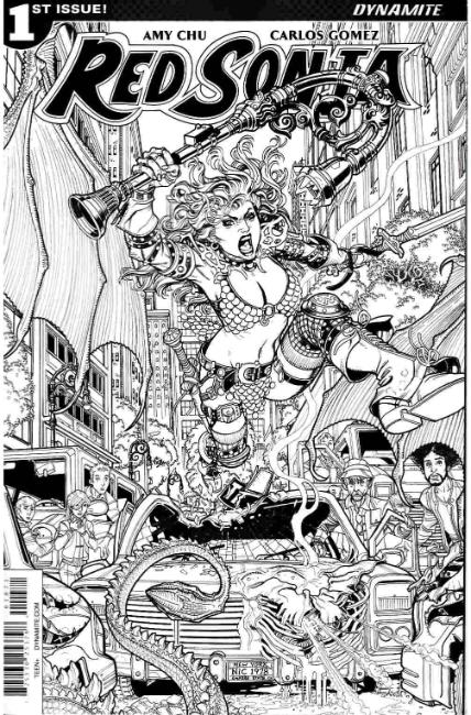 Red Sonja #1 Cover G- Bradshaw B&W Incentive [Dynamite Comic] THUMBNAIL