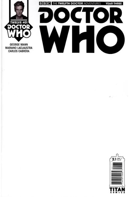 Doctor Who 12th Doctor Year Three #1 Cover G- Blank [Titan Comic] THUMBNAIL