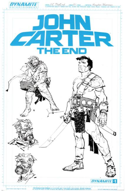 John Carter the End #1 Unique Artboard FOC Incentive Cover [Dynamite Comic] THUMBNAIL