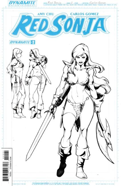 Red Sonja #2 Unique Artboard FOC Incentive Cover [Dynamite Comic] THUMBNAIL
