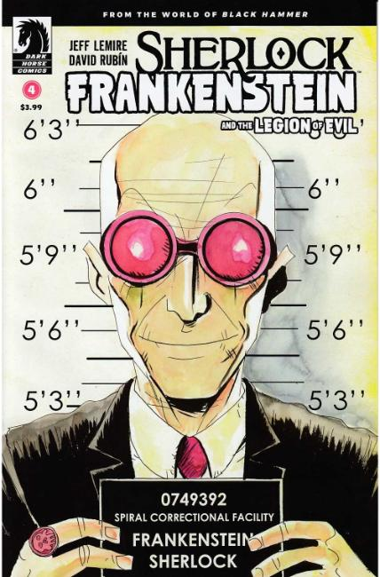 Sherlock Frankenstein & Legion of Evil #4 Lemire Variant Cover [Dark Horse Comic] THUMBNAIL