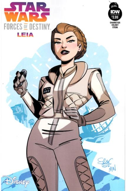 Star Wars Adventures Forces of Destiny Leia Cover B [IDW Comic] LARGE
