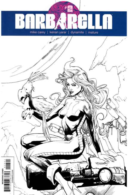 Barbarella #2 Cover F- Segovia B&W Incentive [Dynamite Comic] LARGE