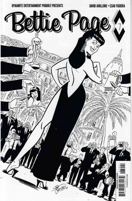 Bettie Page #7 Cover D- Chantler B&W Incentive [Dynamite Comic] THUMBNAIL
