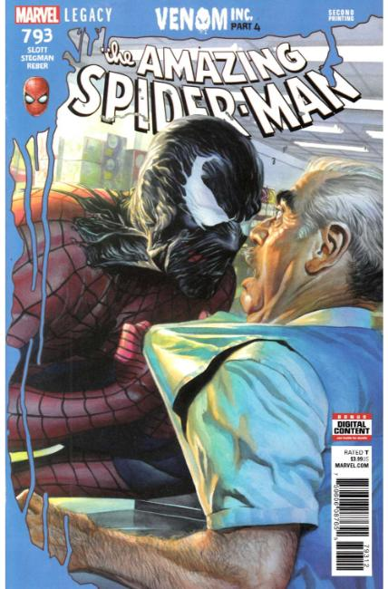 Amazing Spider-Man #793 Second Printing Near Mint (9.4) [Marvel Comic] LARGE