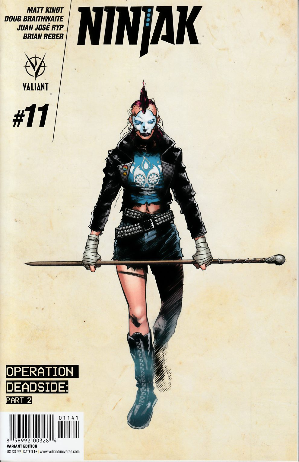 Ninjak #11 Cover D- Hairsine [Valiant Comic] THUMBNAIL
