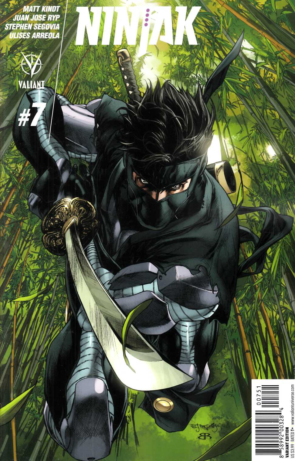 Ninjak #7 Cover E- Segovia Incentive [Valiant Comic] THUMBNAIL