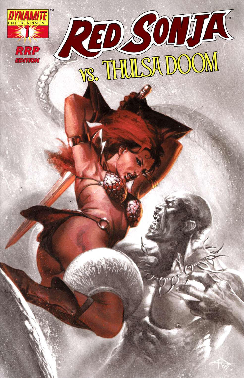 Red Sonja vs Thulsa Doom #1 Dell'Otto RRP Variant Cover Near Mint (9.4) [Dynamite Comic] LARGE