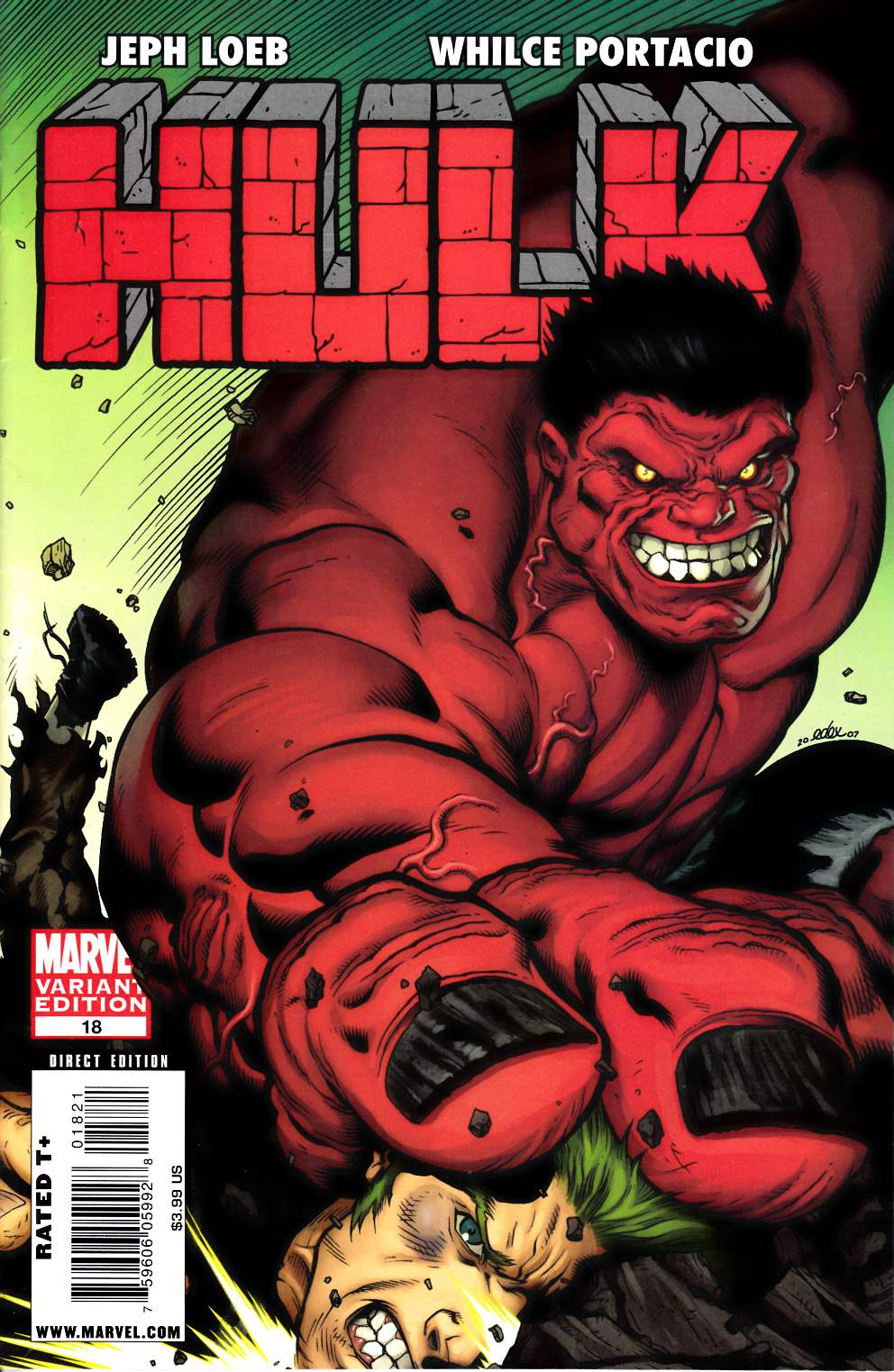 Hulk #18 McGuinness Variant Cover Very Fine (8.0) [Marvel Comic] LARGE