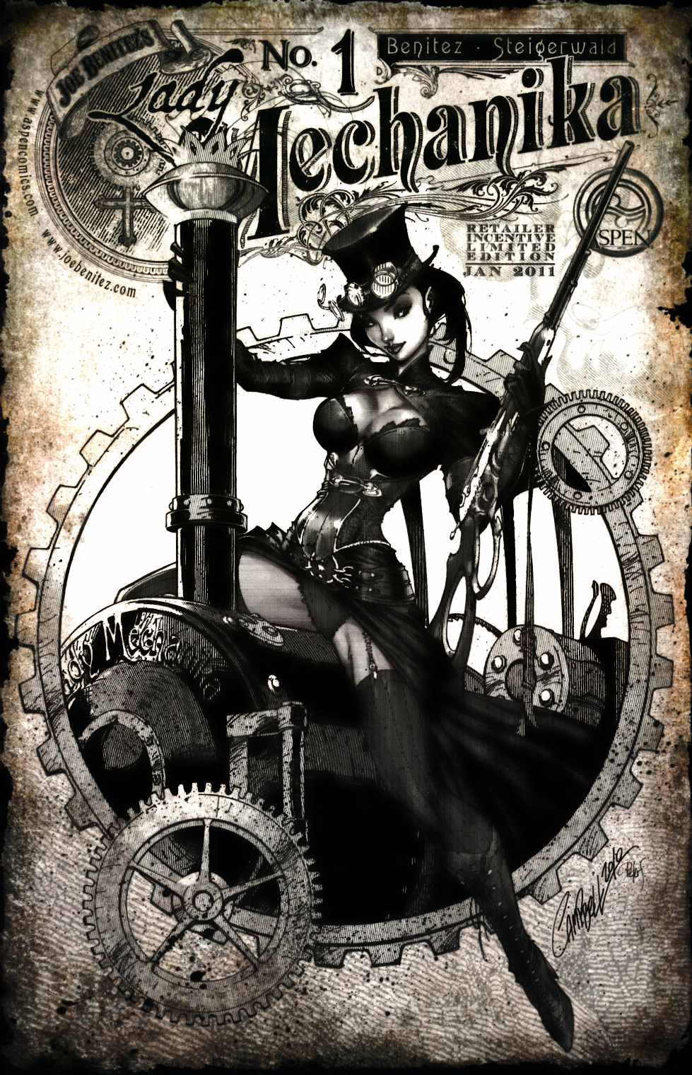Lady Mechanika #1 Cover D Campbell Sketch Incentive [Aspen Comic] THUMBNAIL