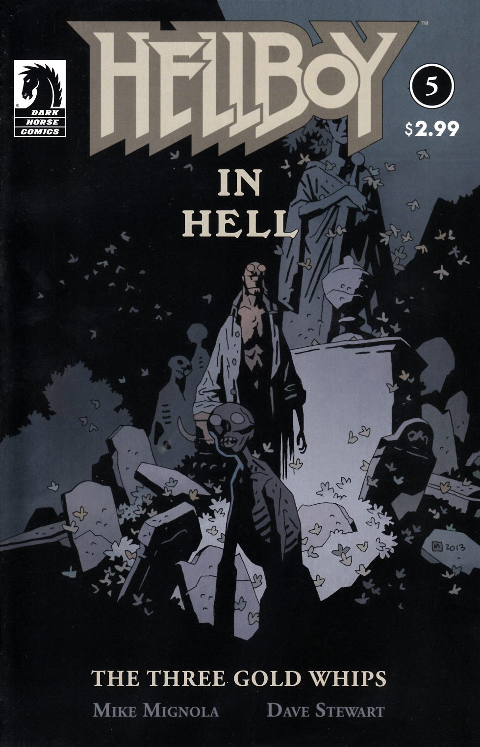 Hellboy in Hell #5 Fine (6.0) [Dark Horse Comic]