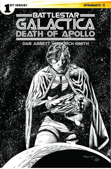 Battlestar Galactica Death of Apollo #1 Cover G- Rare Mayhew Artboard [Dynamite Comic]