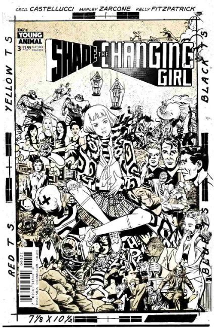 Shade the Changing Girl #3 Rentler Variant Cover [DC Comic] LARGE