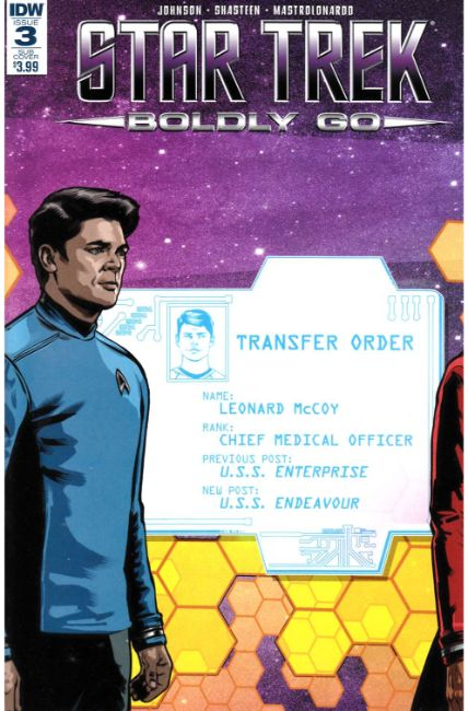 Star Trek Boldly Go #3 Subscription Cover [IDW Comic] THUMBNAIL