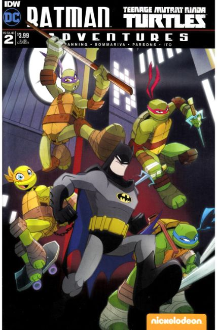 Batman TMNT Adventures #2 Subscription Cover B [IDW Comic]