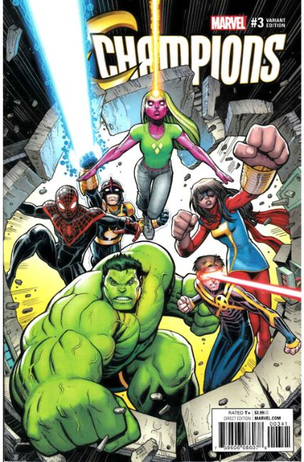 Champions #3 Art Adams Variant Cover [Marvel Comic] THUMBNAIL