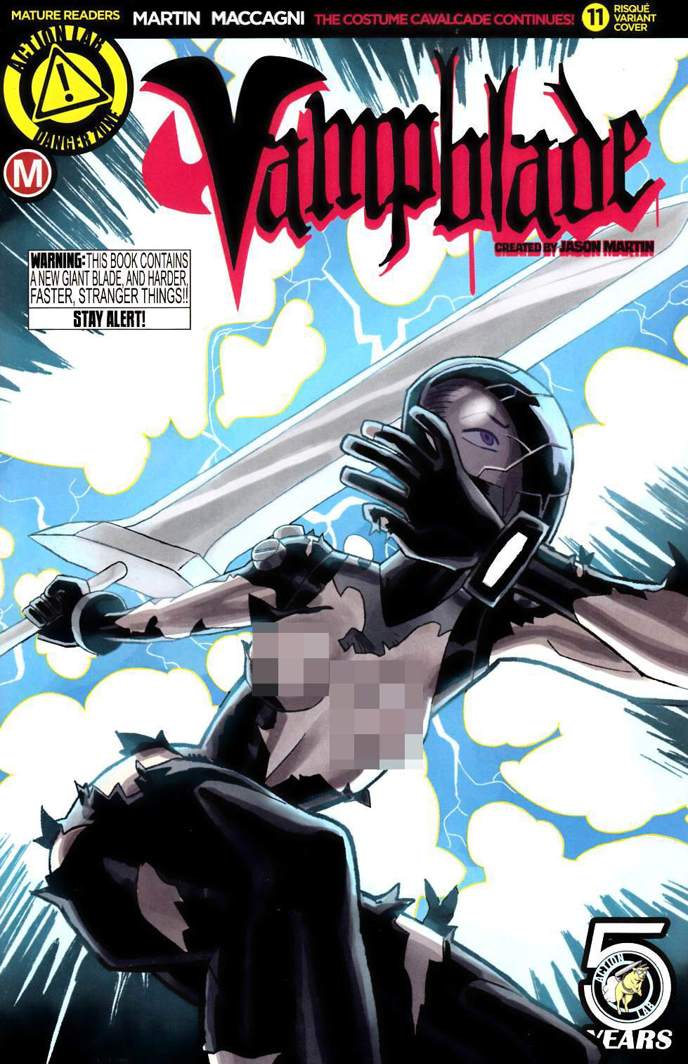 Vampblade #11 Cover B- Young Risque [Danger Zone Comic] THUMBNAIL