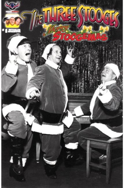 Three Stooges Merry Stoogemas (One Shot) Photo Incentive Cover [American Myth Comic] LARGE