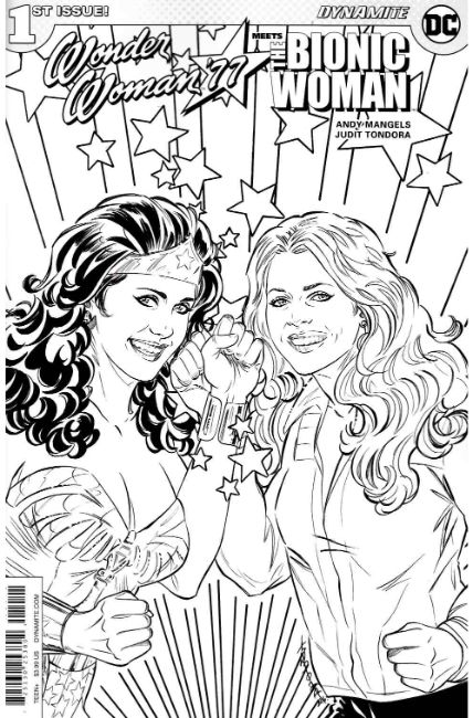 Wonder Woman Bionic Woman 77 #1 Cover D- Coloring Book [Dynamite Comic] LARGE