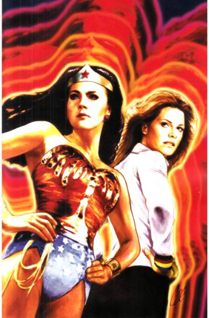 Wonder Woman Bionic Woman 77 #1 Cover E -Staggs Variant [Dynamite Comic] THUMBNAIL