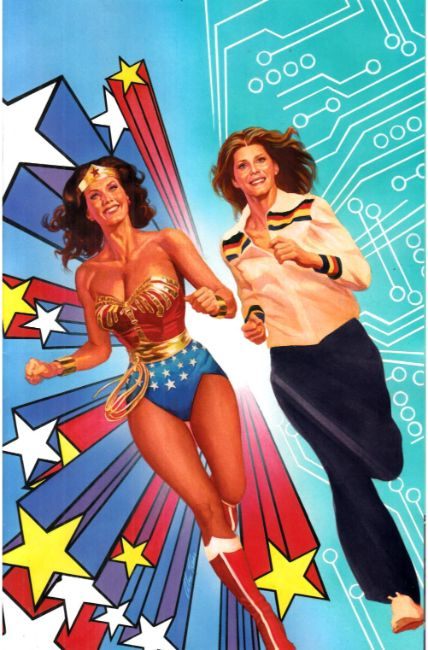 Wonder Woman Bionic Woman 77 #1 Cover F- Ross Variant [Dynamite Comic] LARGE