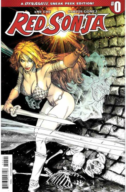 Red Sonja #0 Peterson Sneak Peek Incentive Cover [Dynamite Comic] THUMBNAIL