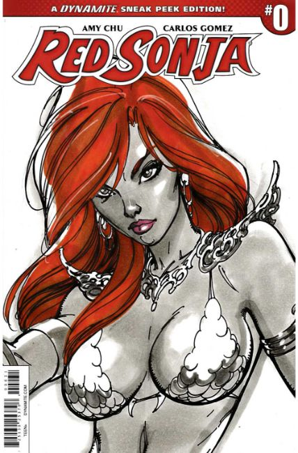 Red Sonja #0 Campbell Sneak Peek Incentive Cover [Dynamite Comic] THUMBNAIL