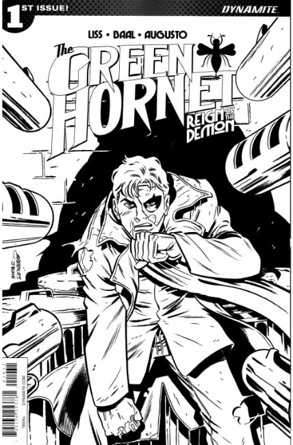Green Hornet Reign of the Demon #1 Cover C- Marques B&W Incentive [Dynamite Comic] THUMBNAIL
