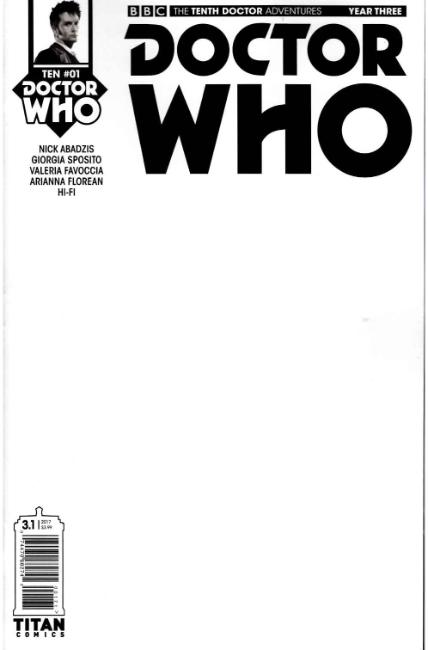 Doctor Who 10th Doctor Year Three #1 Cover G- Blank Sketch [Titan Comic] THUMBNAIL