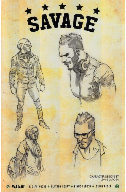 Savage #2 Cover D- Character Design Incentive [Valiant Comic] THUMBNAIL
