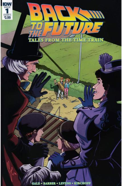 Back to the Future Time Train #1 Cover A [IDW Comic] LARGE