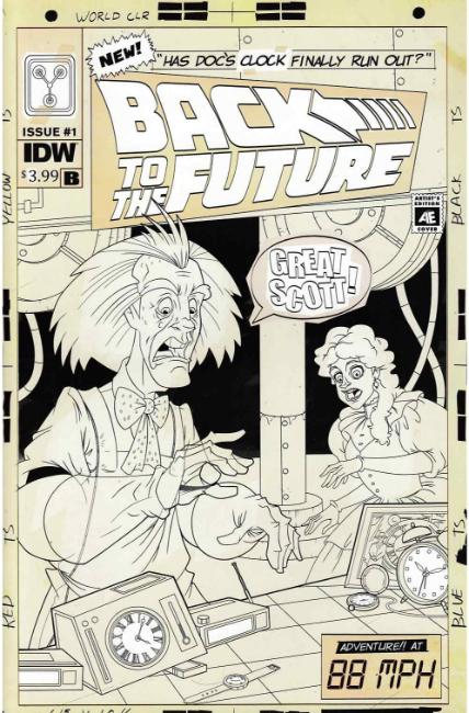 Back to the Future Time Train #1 Cover B [IDW Comic]