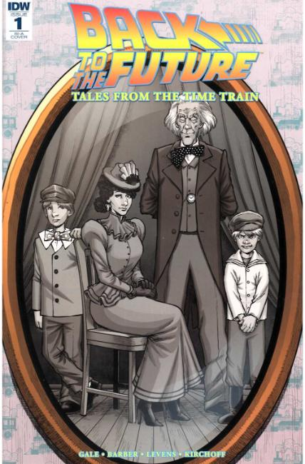 Back to the Future Time Train #1 Cover RIA [IDW Comic] LARGE
