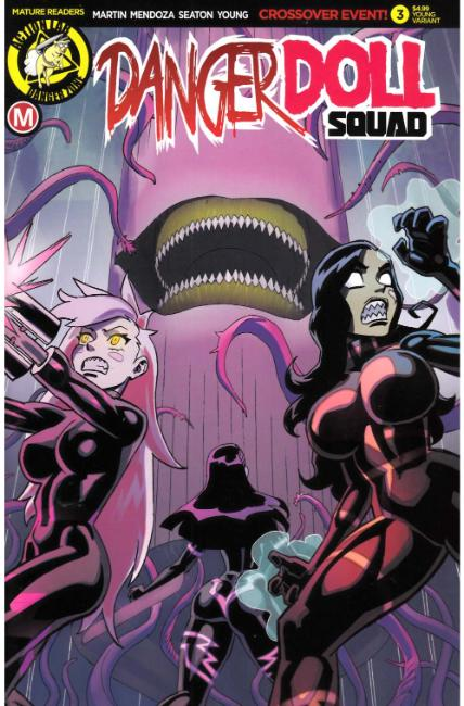 Danger Doll Squad #3 Cover E- Young [Danger Zone Comic] THUMBNAIL
