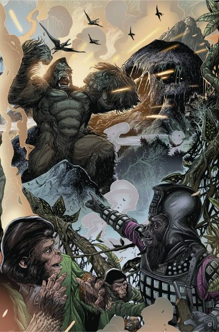 Kong on Planet of the Apes #2 Connecting Magno Variant Cover [Boom Comic]