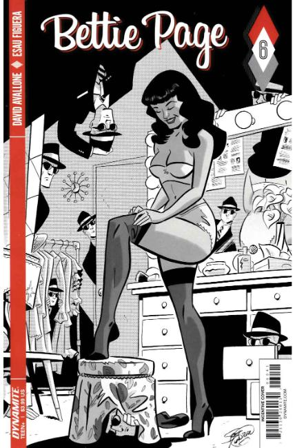 Bettie Page #6 Cover D- Chantler B&W Incentive [Dynamite Comic] THUMBNAIL