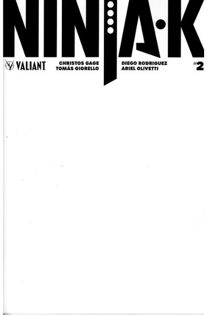 Ninja-K #2 Cover C- Blank [Valiant Comic]