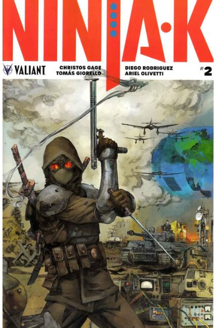 Ninja-K #2 Cover D- Rocafort Incentive [Valiant Comic]