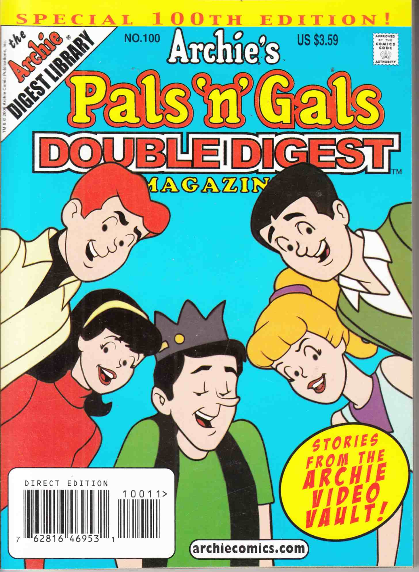 Pals N Gals Double Digest #100 Near Mint (9.4) [Archie Comic] THUMBNAIL