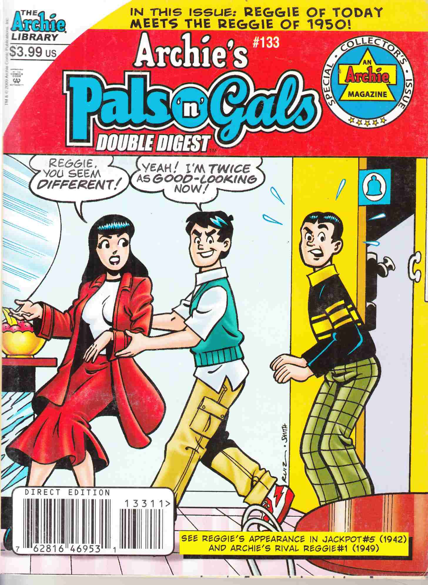 Archies's Pals n Gals Double Digest #133 Near Mint Minus (9.2) [Archie Comic] THUMBNAIL
