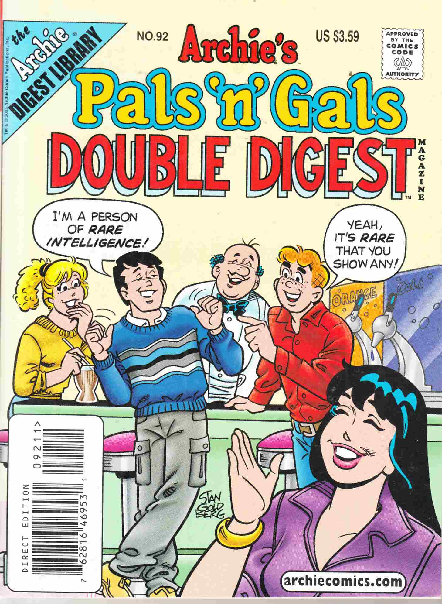 Pals N Gals Double Digest #92 Near Mint Minus (9.2) [Archie Comic] THUMBNAIL