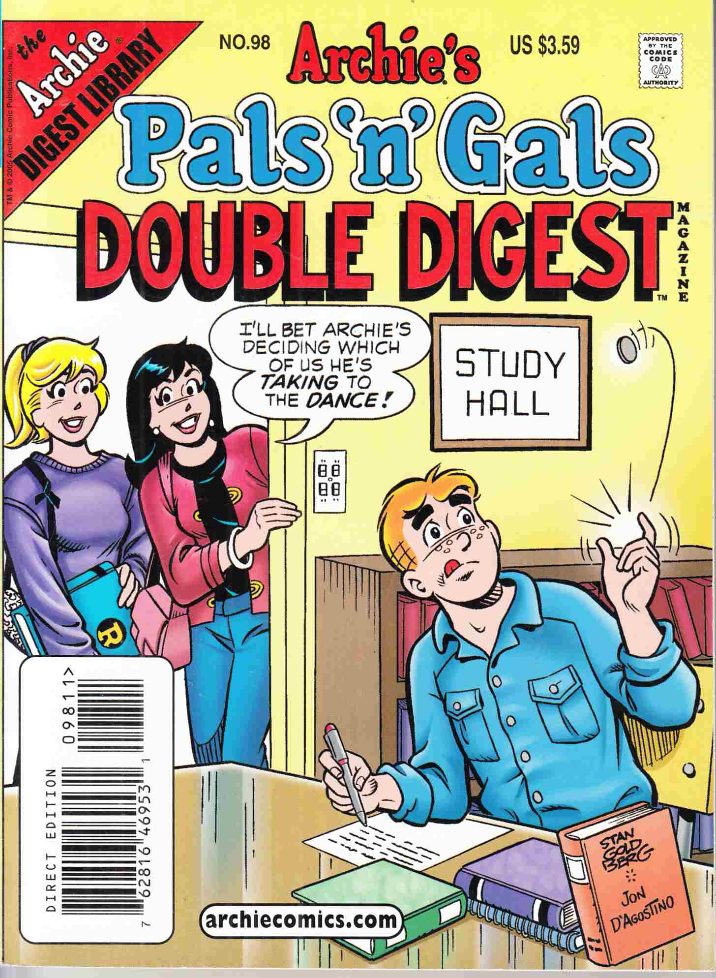 Pals N Gals Double Digest #98 Near Mint (9.4) [Archie Comic] THUMBNAIL